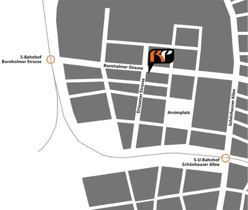 Skiservice Skiverleih Berlin Lageplan