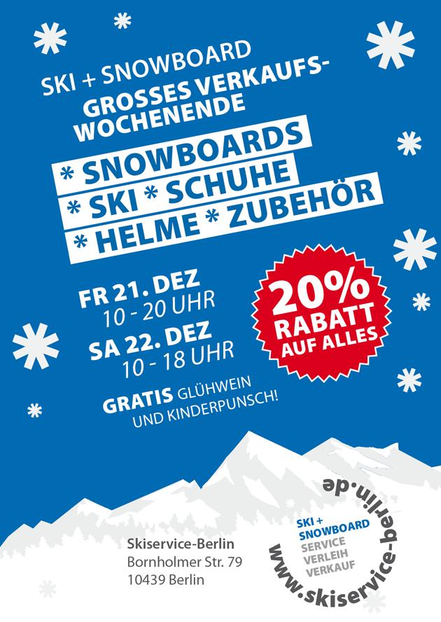 Skiservice Skiverleih Berlin Verkaufsaktion